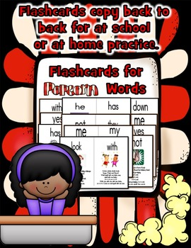 Sight Word (Popcorn) Songs Set 3: Posters, Flashcards, Writing Pages & Audio