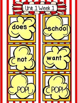 Sight Word Popcorn Wonders Unit 1 Grade 1