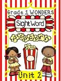Sight Word Popcorn Wonders Unit 2 Grade 1