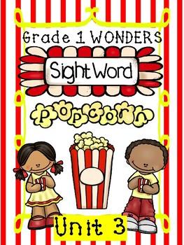 Sight Word Popcorn Wonders Unit 3 Grade 1