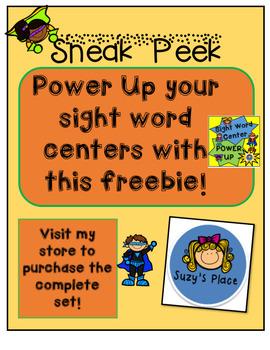 Sight Word Power Up Sneak Peek  Freebie