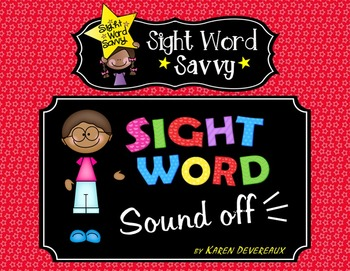 Sight Word POWERPOINT --- Sight Word Savvy