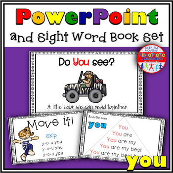 Sight Word Book and PowerPoint YOU