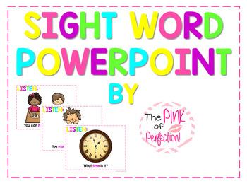Sight Word PowerPoint ♥K-2