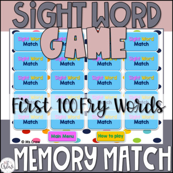 Sight Word Game {First 100 Fry Words}