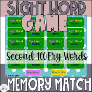 Sight Word Game {Second 100 Fry Words}