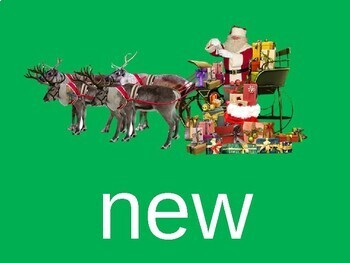 Sight Word PowerPoint (Second 100 words) Santa and Sleigh Theme