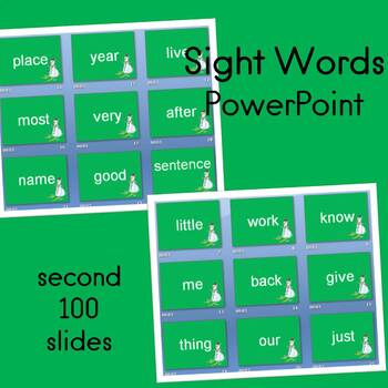Sight Word PowerPoint (Second 100 words) Winter Theme