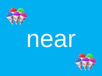Sight Word PowerPoint (Third 100 words) Snow Cone Theme