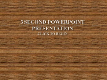 Sight Word Powerpoint- 3 Second Slide Transition