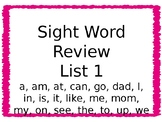 Sight Word Powerpoint Review