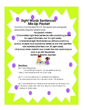 Sight Word Practice in Context