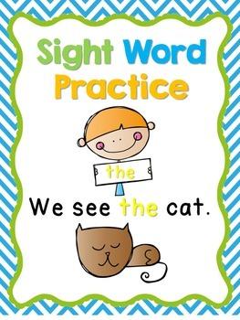 Sight Word Practice!