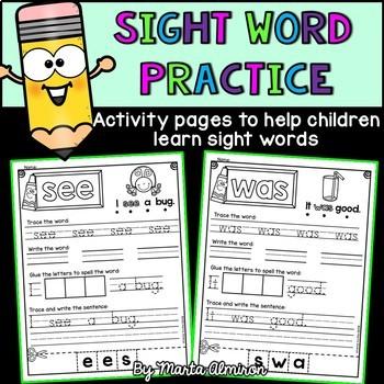 Sight Word Practice {VOLUME 1}