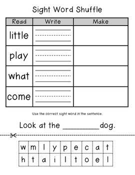 Sight Word Practice by Teitsma Treasures | Teachers Pay ...