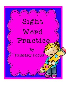Sight Word Practice