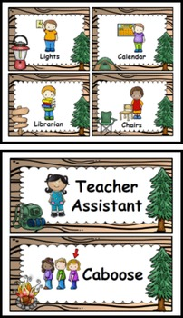 Camping Theme Classroom Jobs / Helpers (EDITABLE)