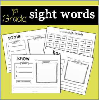 Sight Word Practice - 1st Grade