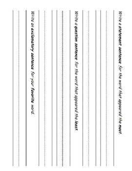 Sight Word Practice 1st grade
