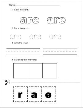 Sight Word Practice 2