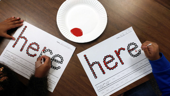 Sight Word Activities with Q-Tips and Paint {220 Pages of Word Work Activities!}
