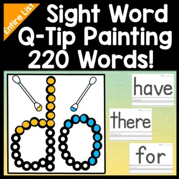 Sight Word Activities with Q-Tip Paints {220 Words!}