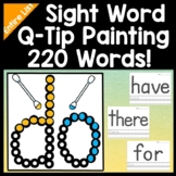 Sight Word Centers with Q-Tip Paints {220 Words!} {Sight Word Activities}