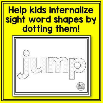 Dolch Pre-Primer Sight Word Dot Painting