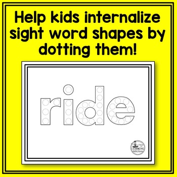 Dolch Primer Sight Word Dot Painting
