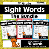 BUNDLE -- 1st Grade Sight Word Practice