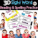 Sight Word Practice 3D Reading and Spelling Cards