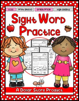 Sight Word Practice 5:  there, use, an, each, which, she,