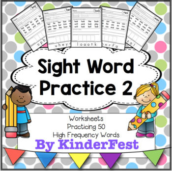 Sight Word Practice - 50 High Frequency Words