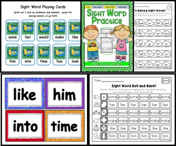 Sight Word Practice 7:  some, her, would, make, like, him, into, time, has, look