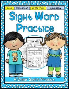Sight Word Practice 8: two, more, write, go, see, number,