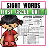 Journeys Sight Word Practice First Grade Unit 1