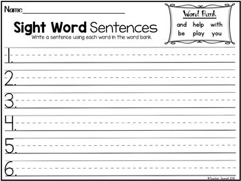 Sight Word Practice (Journeys Sight Words First Grade Unit 1 Supplement)