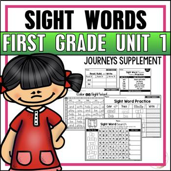 Journeys Sight Word Practice First Grade Unit 1