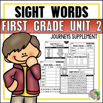 Journeys Sight Word Practice / Journeys High Frequency Words First Grade Unit 2