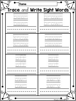 Sight Word Practice Journeys High Frequency Words First Grade Unit 3 Supplement