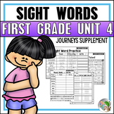 Journeys Sight Word Practice First Grade Unit 4