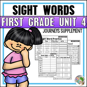 Sight Word Practice (Journeys Sight Words First Grade Unit 4 Supplement)