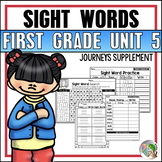 Journeys Sight Word Practice First Grade Unit 5