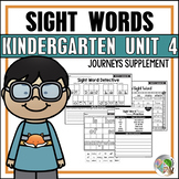 Journeys Sight Word Practice Kindergarten Unit 4