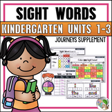 Journeys Sight Word Practice Kindergarten Units 1-3