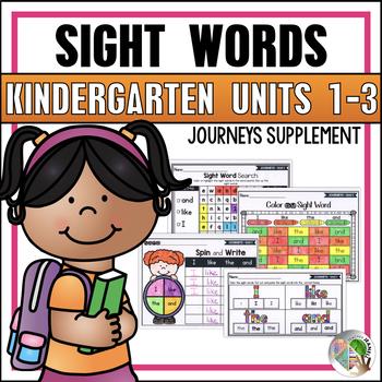Sight Word Practice (Aligned to Kindergarten Journeys - Un