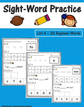 Sight-Word Practice - Beginner Words