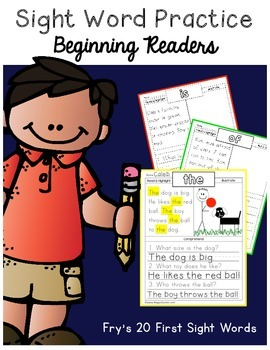 Sight Word Reading Comprehension {Beginning Readers}
