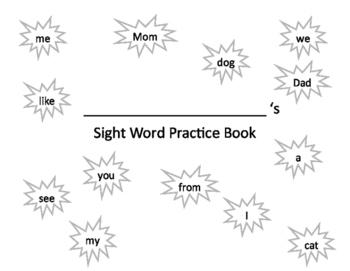 Sight Word Handwriting Practice Book 1