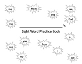 Sight Word Handwriting Practice Book 1